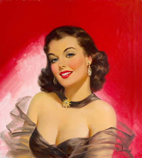 Woman against Red by Art Frahm - Fine Art Print Available