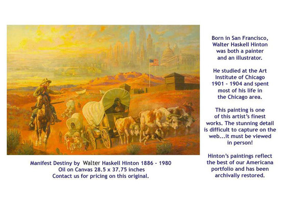 Manifest Destiny by Walter Haskell Hinton - for sale