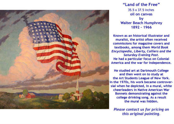 Land of the Free by Walter Beach Humphrey - for sale
